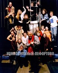 Юрий Любимов во время репетиции, Театр на Таганке 1998 год. Фото: Л.Н. Шерстенников
