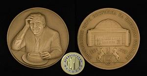 Памятная медаль московский цирк Никулина на цветном бульваре 10 лет 1989-1999 года