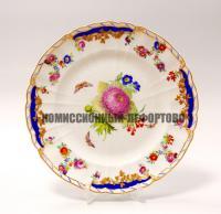 антикварная тарелка из столового сервиза «Rocaille» фарфор Королевской Мануфактуры в Берлине KPM Berlin.