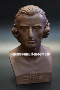 Бюст Шиллера майссенский фарфор