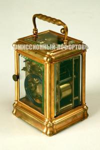часы каретные «Павел Буре» с часовым репетиром и будильником, конец XIX века.