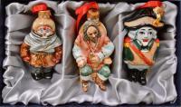 Ёлочные игрушки набор 3 штук, совреманная Россия.