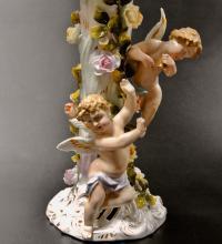 Канделябр семирожковый, фарфор лепной декор Schierholz Германия 1880 гг.
