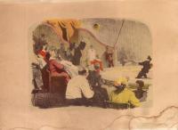 клоун Карандаш серия литографий цирк, период ссср 1958 год.