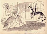Кобар Нелл, карикатура.