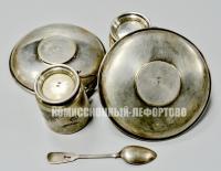кофейные пары, серебро 84 проба до 1917 года.