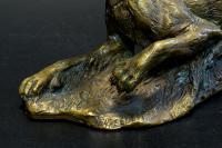 пантера, бронзовая скульптура.