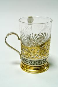 Подстаканник Кубачи серебро 875 СССР 1970 гг.