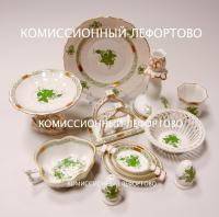 сервиз Herend десертный, Apponyi Chinese Bouquet Green decor