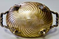 Сухарница серебряная, конец 19 начало 20 века.