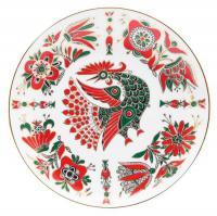 Тарелка декоративная настенная Красный петух, ЛФЗ период СССР вторая половина ХХ века.