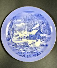 Тарелка коллекционная Рождество, Julen 1980 год Швеция.