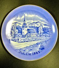 Тарелка коллекционная Рождество, Julen 1982 год Швеция.