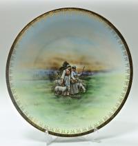 тарелка настенная «Пастушки» начало XX века