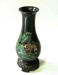 ваза декоративная, китайский лак 1960 гг.