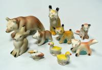 Зоопарк, мелкая пластика Гжель, 1961 год.