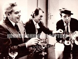 Аркадий Райкин, Юрий Никулин, Михаил Шуйдин. Фотография 1970 гг.