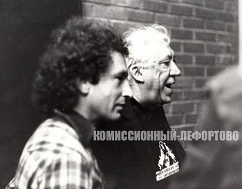 Пётр Простецов и Юрий Никулин 1990 гг.