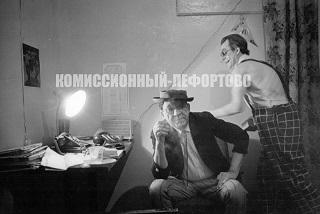 Юрий Никулин и Михаил Шуйдин «В гримёрной цирка»