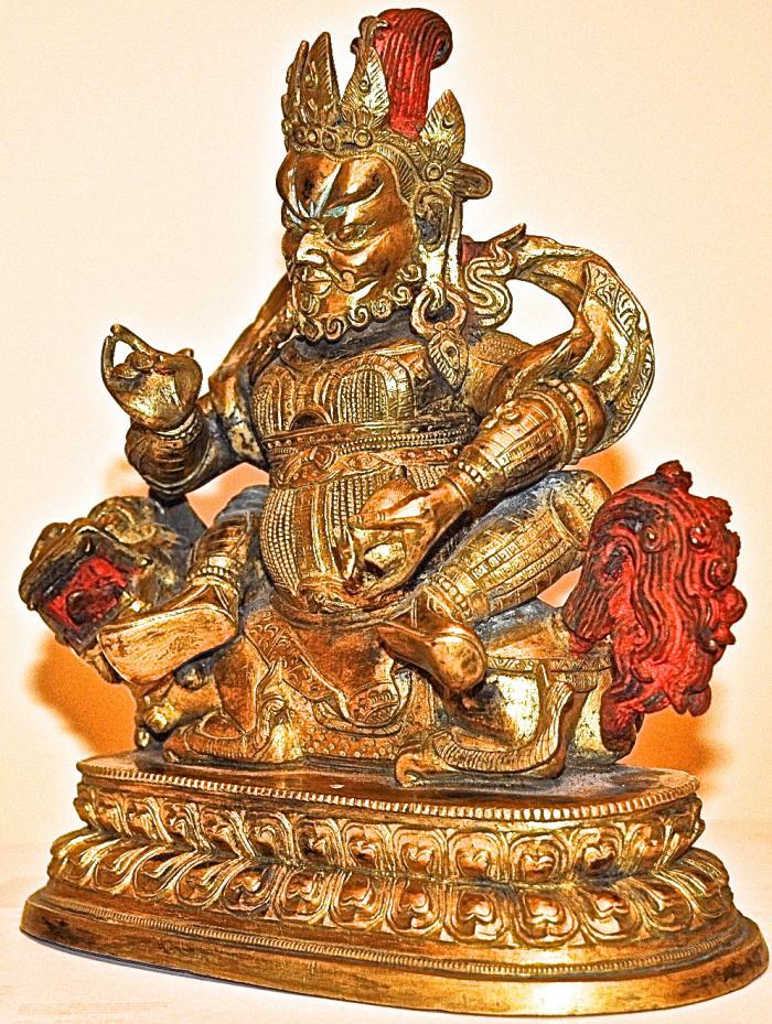 скульптура Вайшравана китай XIX век. | Комиссионный магазин лефортово