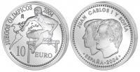 испания 10 евро 2004 год олимпиада, бег с барьерами