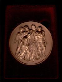 настольная медаль к 175 - летию восстания декабристов 1825 - 2000 гг.