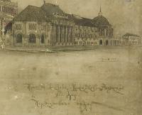 Проект вокзала Московско-Рязанской ж/д перспективный план Рерберга, подпись Щусева.