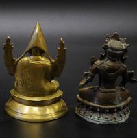 скульптура буддийского пантеона лама Цонкапа, семиглазая белая Тара XIX век.