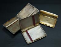 портсигар три штуки серебро 84 пробы