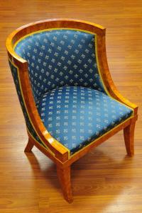 кресло две штуки, форма бочка эпоха Павла I
