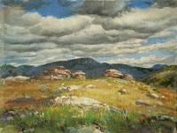 горная Колывань 2008 г Х/М 34 Х 45 см.