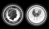 50 центов Елизавета II, год петуха 2005, Австралия.