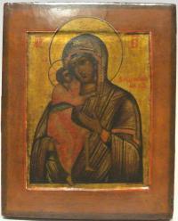 икона фёдоровская преподобная богородица, на серебре ковчег.