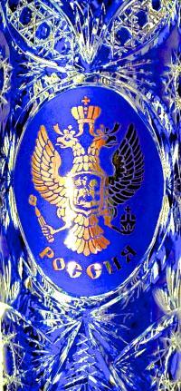 ваза напольная хрусталь - кобальт, современная Россия