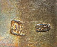 рюмки серебро 84 проба, гравировка, позолота