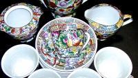 чайный сервиз цветущий сад,  Китай первая половина XX века.