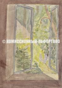 акварельный рисунок, автор Рерберг Иван Иванович 1905 год.