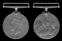 Англия медаль войны 1939-1945 Георг VI