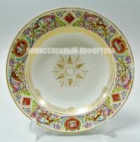 Антикварная копия Тарелка столовая SEVRES из императорского столового сервиза «Фонтенбло».