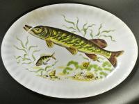 Блюдо овальное Щука , Германия - Бавария 1960-1970 гг.