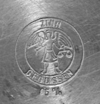 Бокал оловянный, Германия.