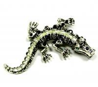 брошь крокодил бижутерия 1980 гг.