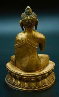 Будда Шакьямуни, скульптура буддийского пантеона, Монголия  начало XX века.