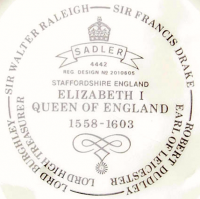 чайник коллекционный Sadler Англия Елизавета I