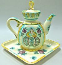 чайник с подносом зик конаково период ссср 1960 - 1970 гг.