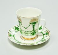 Чайно кофейная пара, ЛФЗ период СССР 1980 гг.