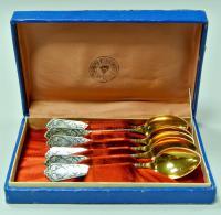 чайные ложки серебро, набор период ссср 1960 - 1970 гг.