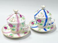 чайные пары «Свадебные» лфз, период ссср 1970 - 1980 гг.