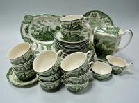 чайный сервиз на 11 персон johnson bros старая британия, «замки»