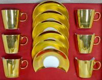 чайный сервиз золотой «Epiag» период чсср 1970 гг.